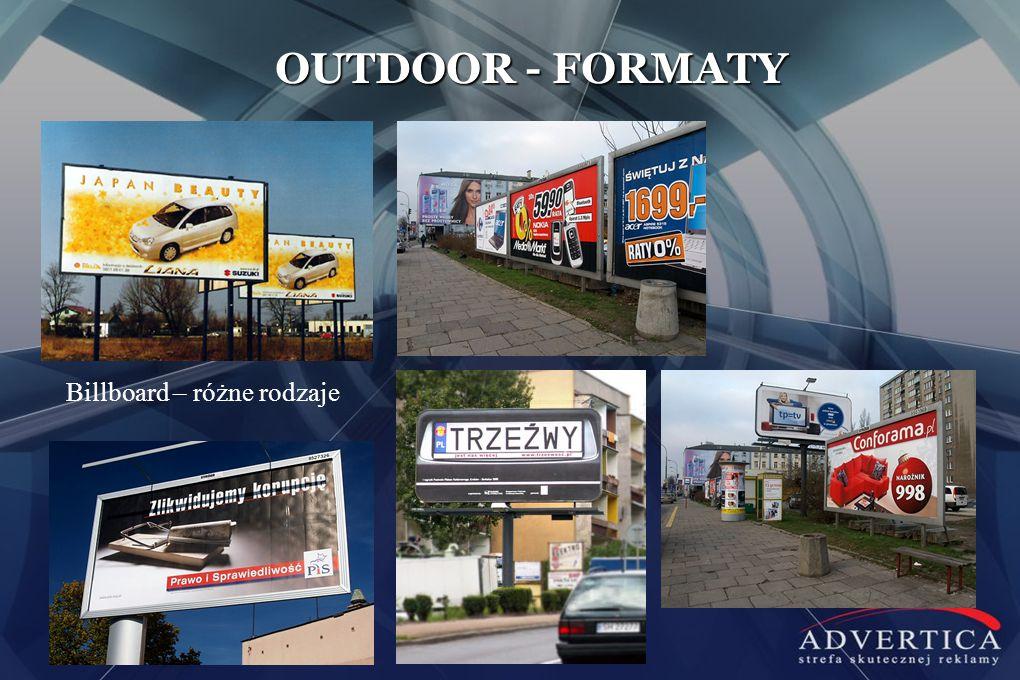 OUTDOOR - FORMATY Billboard – różne rodzaje