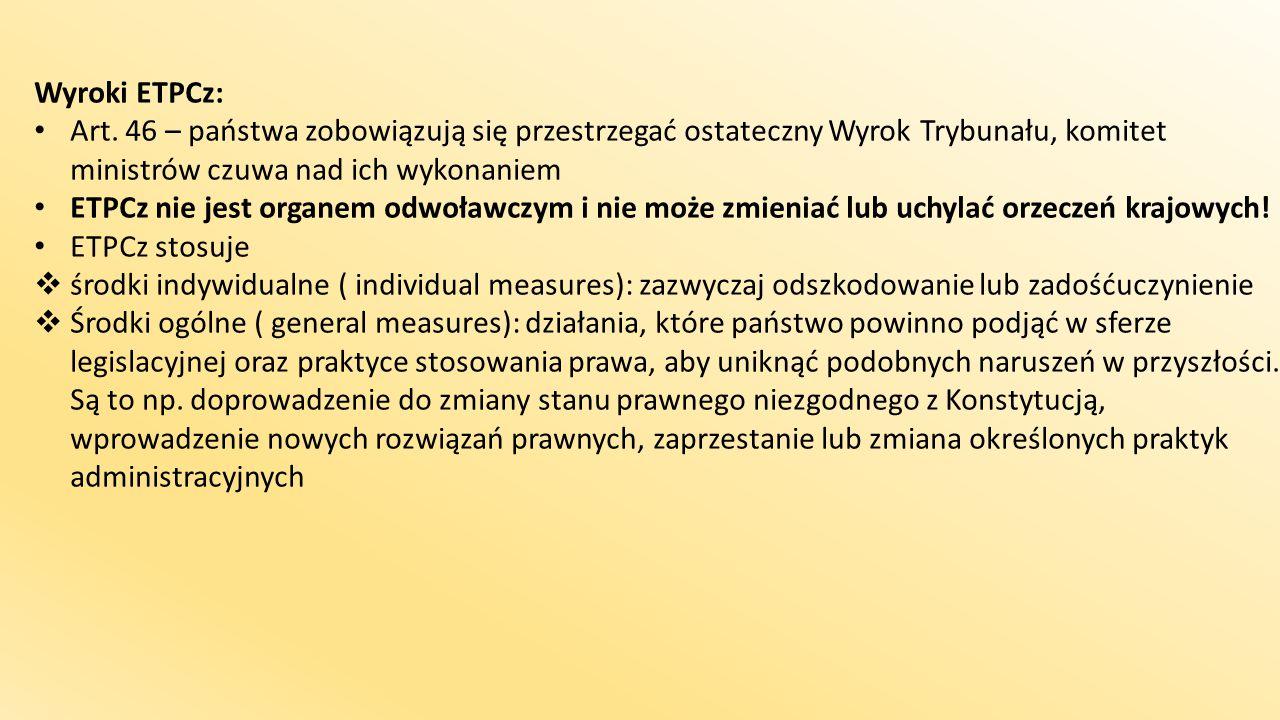 Wyroki ETPCz: Art.