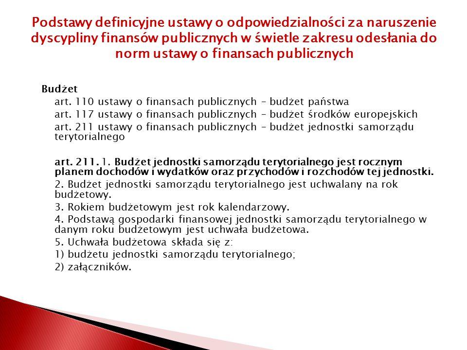 Budżet art.110 ustawy o finansach publicznych – budżet państwa art.