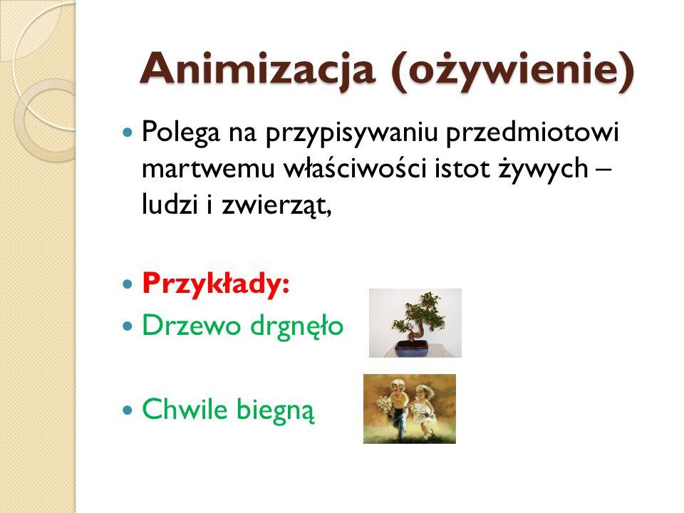 Zdrobnienie Wyrazy utworzone za pomocą odpowiedniego przyrostka mające znaczenie w jakimś sensie pomniejszone Przykłady: Rączki Kotek Martusia