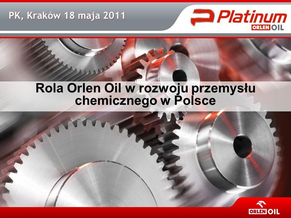 PK, Kraków 18 maja 2011 Rola Orlen Oil w rozwoju przemysłu chemicznego w Polsce