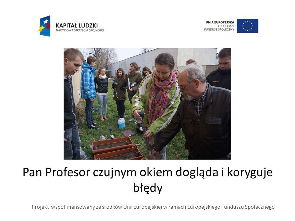 Pan Profesor czujnym okiem dogląda i koryguje błędy Projekt współfinansowany ze środków Unii Europejskiej w ramach Europejskiego Funduszu Społecznego