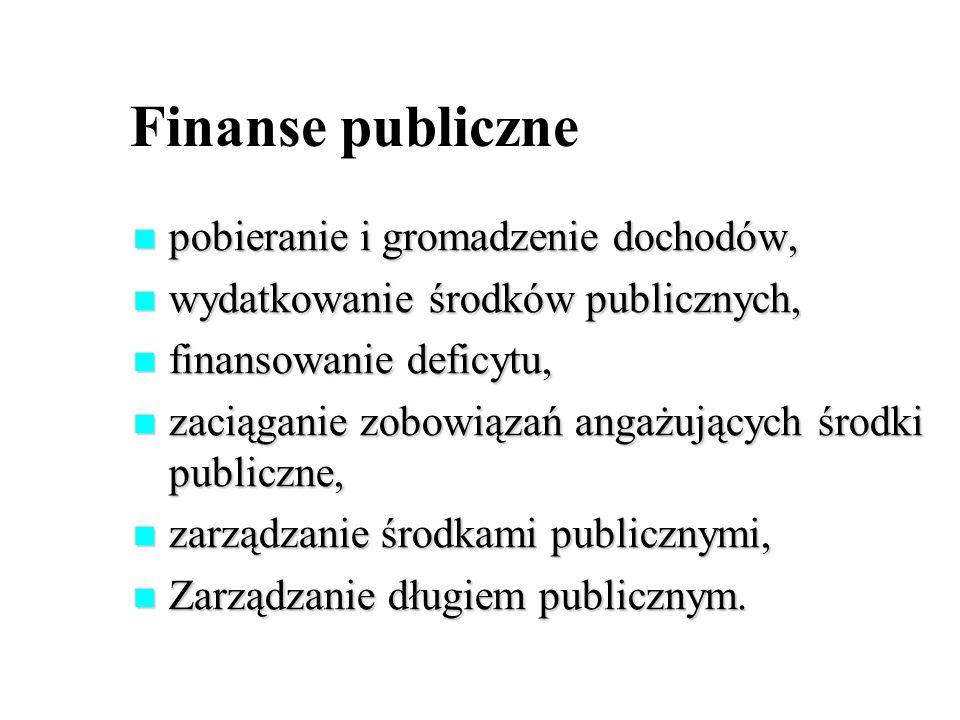 Finanse publiczne pobieranie i gromadzenie dochodów, pobieranie i gromadzenie dochodów, wydatkowanie środków publicznych, wydatkowanie środków publicz