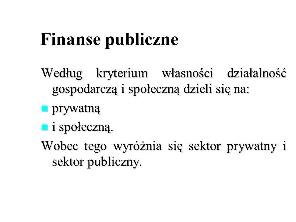 Według kryterium własności działalność gospodarczą i społeczną dzieli się na: prywatną prywatną i społeczną. i społeczną. Wobec tego wyróżnia się sekt