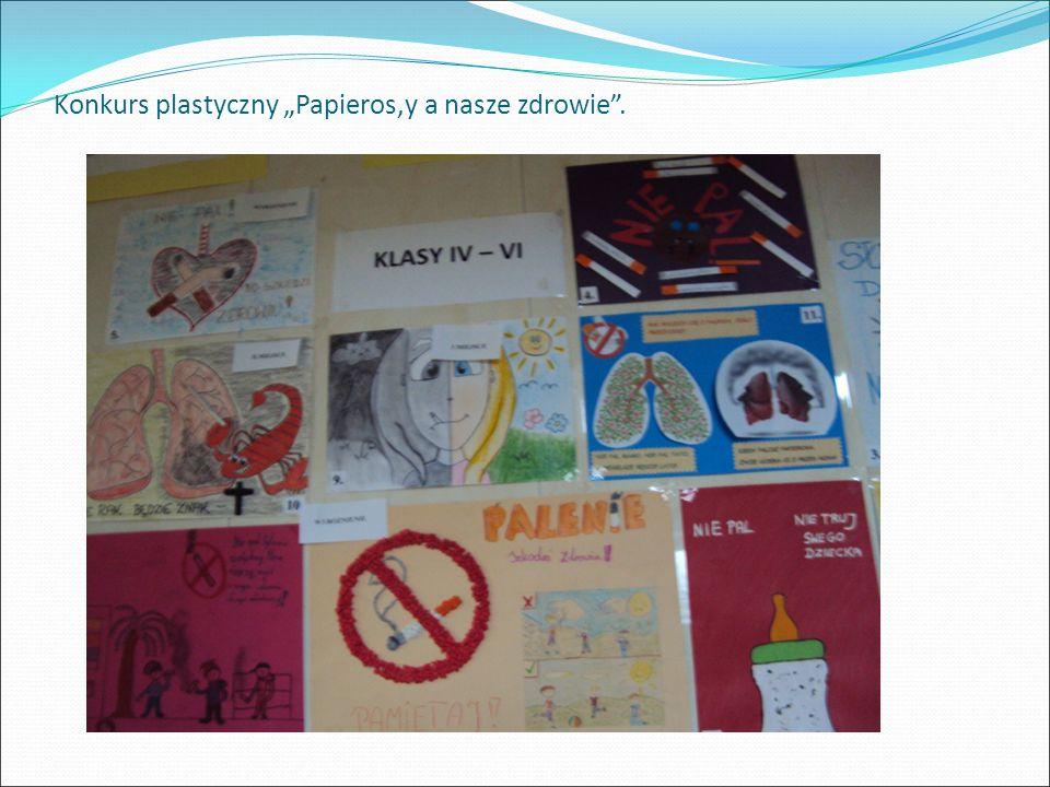 """Konkurs plastyczny """"Papieros,y a nasze zdrowie""""."""
