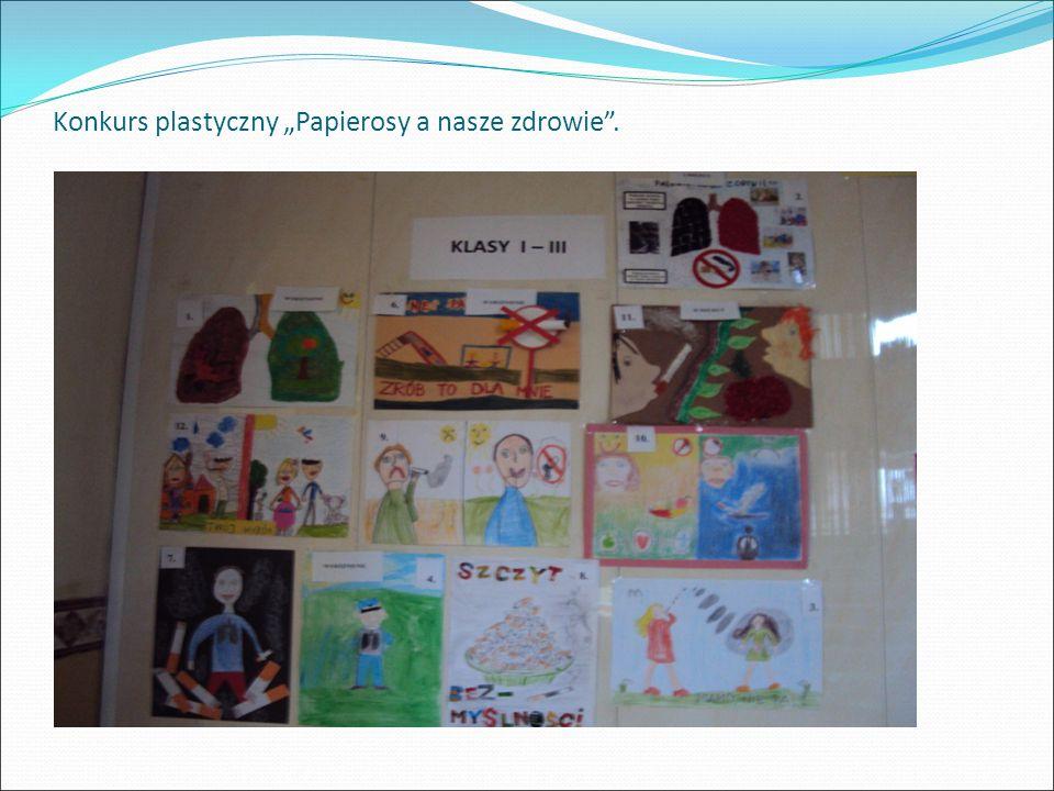 """Konkurs plastyczny """"Papierosy a nasze zdrowie""""."""