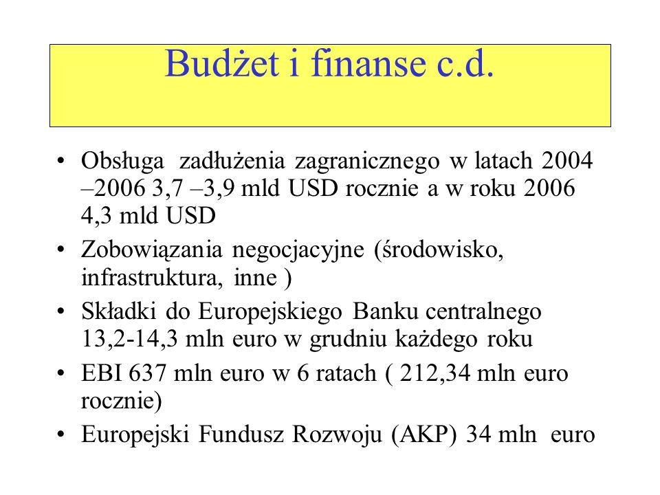 Budżet i finanse c.d.