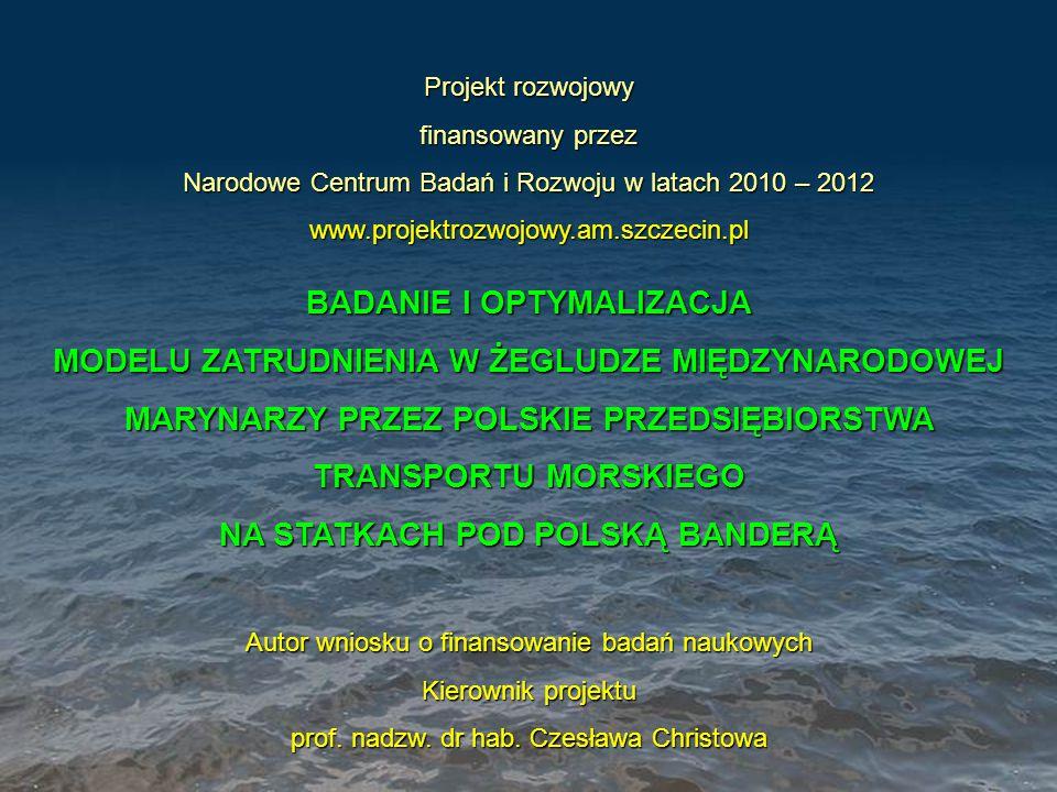Projekt rozwojowy finansowany przez Narodowe Centrum Badań i Rozwoju w latach 2010 – 2012 www.projektrozwojowy.am.szczecin.pl BADANIE I OPTYMALIZACJA
