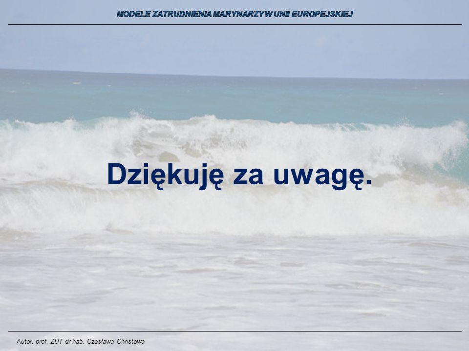 Dziękuję za uwagę. Autor: prof. ZUT dr hab. Czesława Christowa