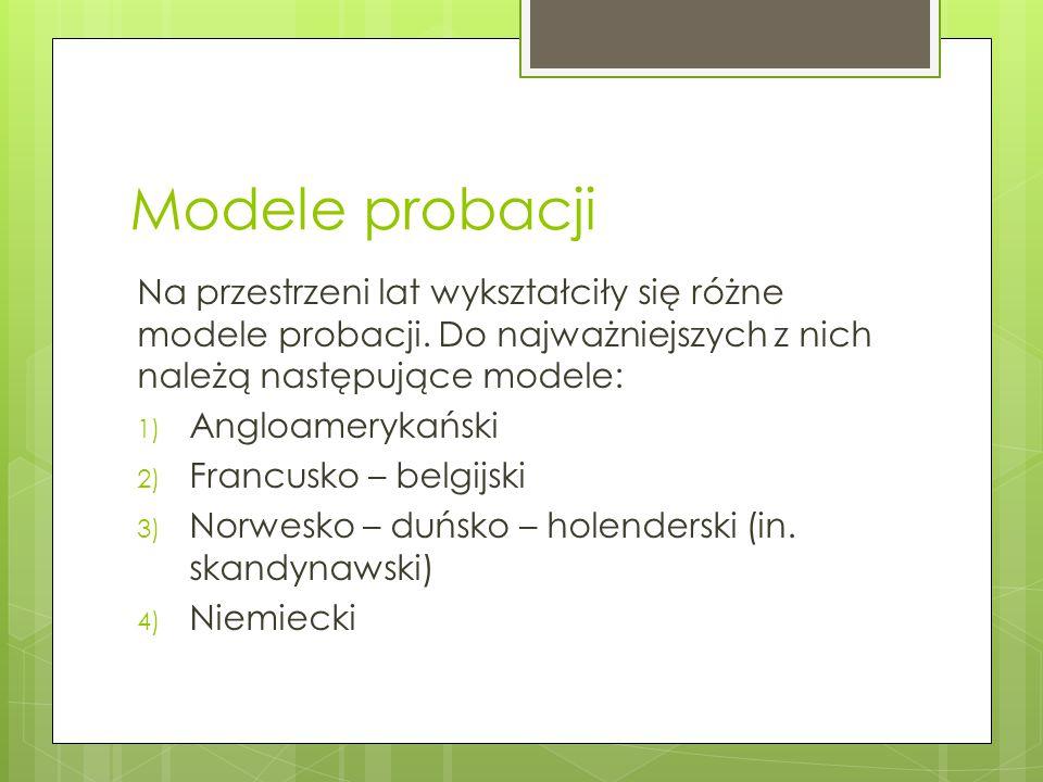 Probacja w polskim systemie  W Kodeksie karym z 1997r.
