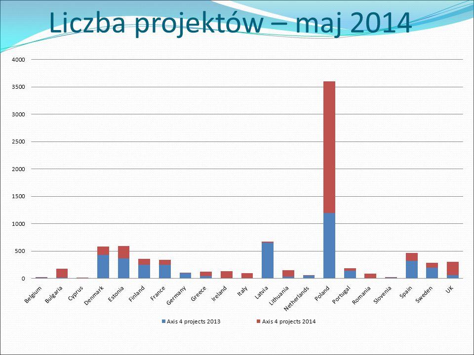 Liczba projektów – maj 2014