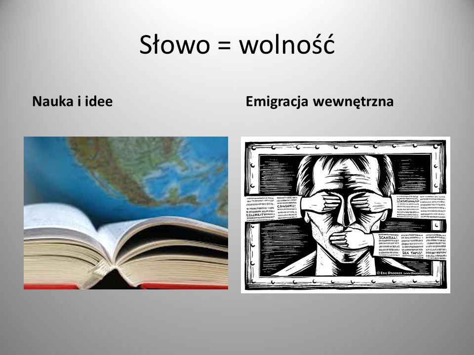 Słowo = wolność Nauka i ideeEmigracja wewnętrzna