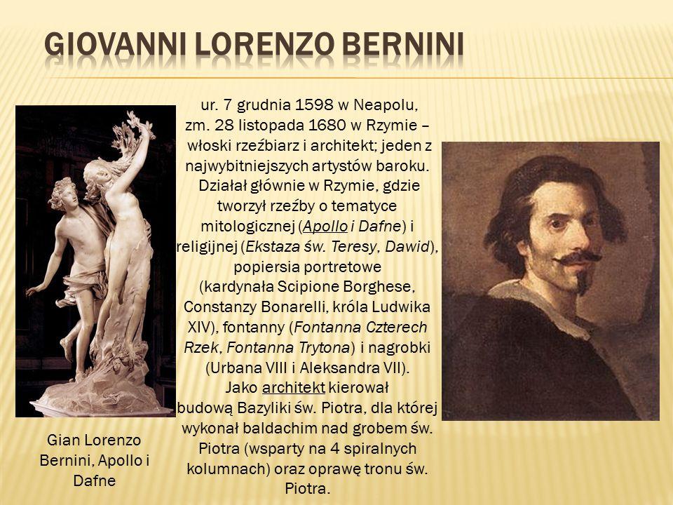 ur. 7 grudnia 1598 w Neapolu, zm. 28 listopada 1680 w Rzymie – włoski rzeźbiarz i architekt; jeden z najwybitniejszych artystów baroku. Działał główni