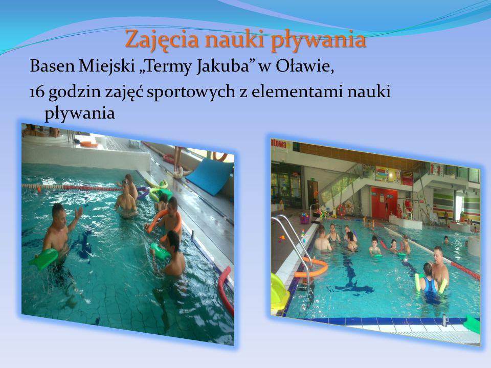 """Zajęcia nauki pływania Basen Miejski """"Termy Jakuba w Oławie, 16 godzin zajęć sportowych z elementami nauki pływania"""