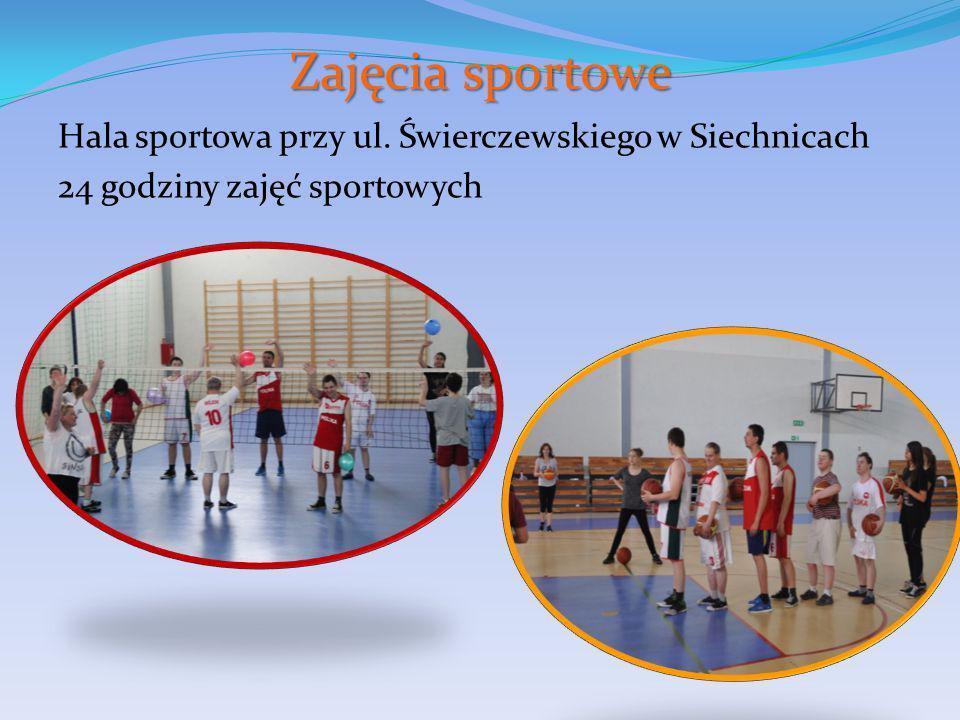 Zajęcia sportowe Hala sportowa przy ul. Świerczewskiego w Siechnicach 24 godziny zajęć sportowych
