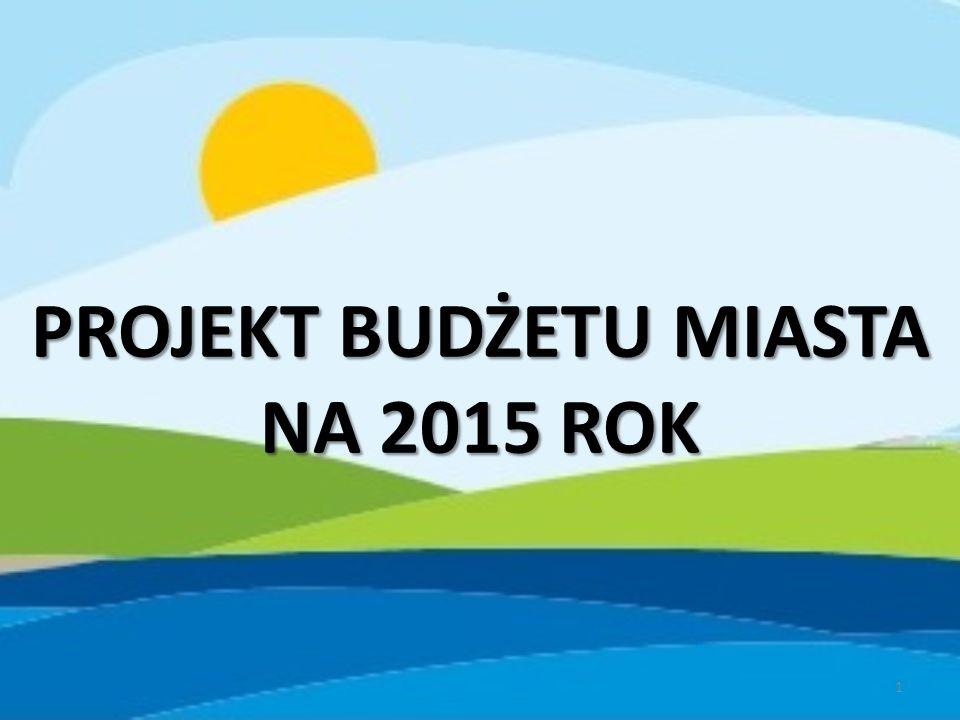 PROJEKT BUDŻETU MIASTA NA 2015 ROK 1