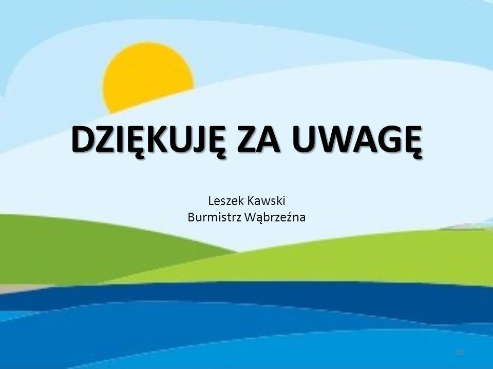 DZIĘKUJĘ ZA UWAGĘ Leszek Kawski Burmistrz Wąbrzeźna 30