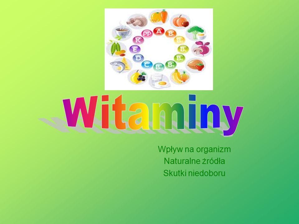 Źródła i skutki niedoboru witaminy B9 Powoduje zaburzenia w syntezie kwasów nukleinowych, aminokwasów, białek jądrowych, co objawia się: - spadkiem tempa odbudowy komórek, które regenerują się najszybciej, tj.