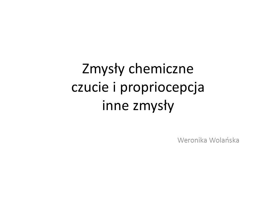 Zmysły chemiczne czucie i propriocepcja inne zmysły Weronika Wolańska