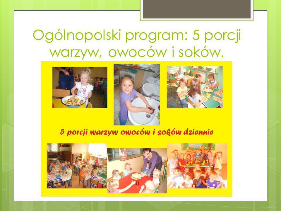 Ogólnopolski program: 5 porcji warzyw, owoców i soków.