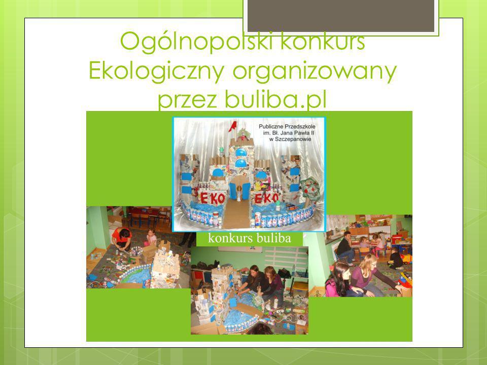 Ogólnopolski konkurs Ekologiczny organizowany przez buliba.pl