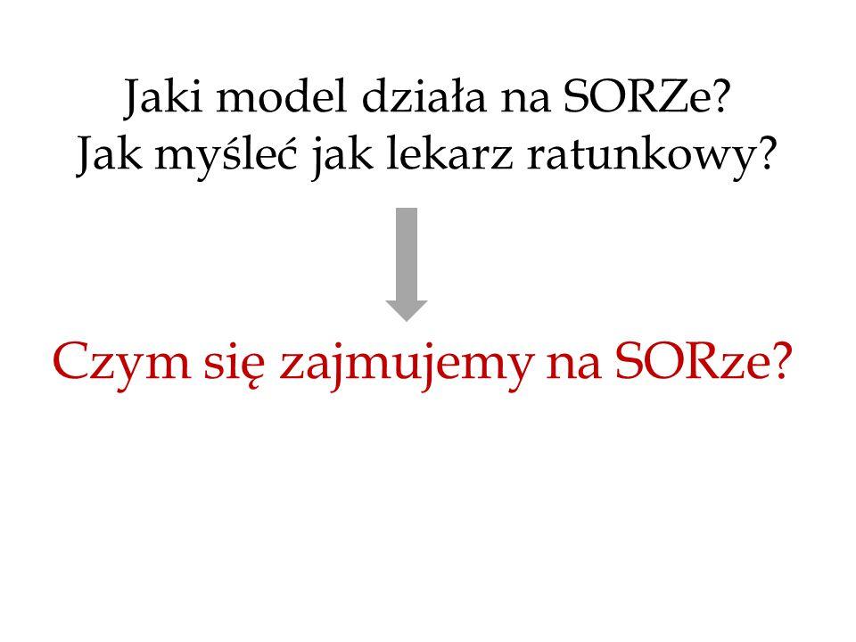 Czym się zajmujemy na SORze? Jaki model działa na SORZe? Jak myśleć jak lekarz ratunkowy?