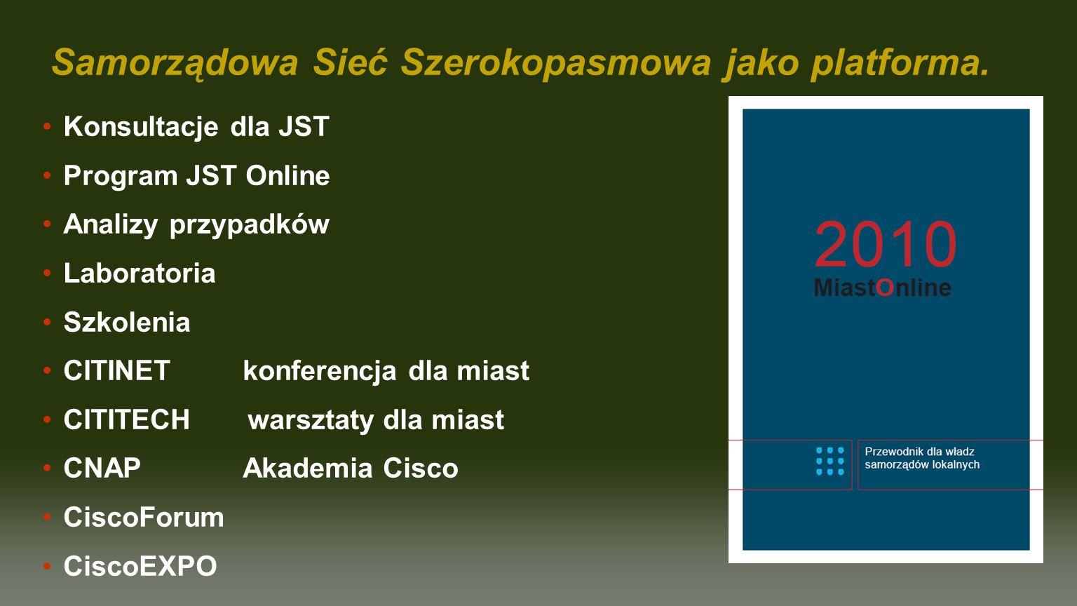 Samorządowa Sieć Szerokopasmowa jako platforma.