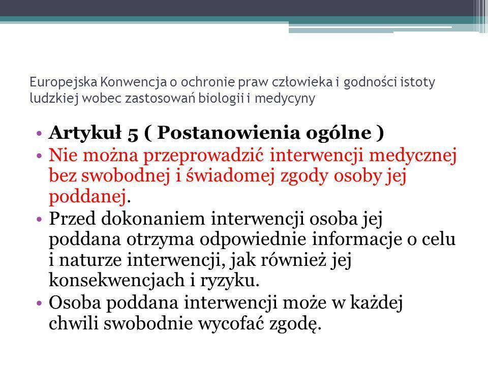 PRAWO DO ŻYCIA Artykuł 2 Prawo do życia 1.