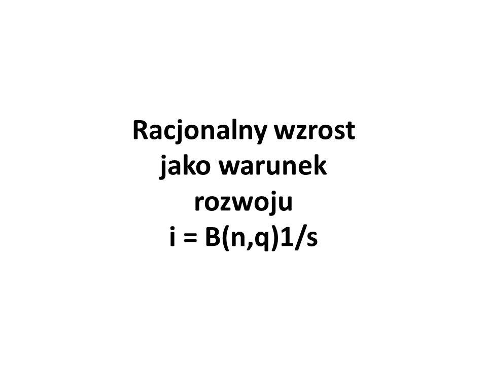 Racjonalny wzrost jako warunek rozwoju i = B(n,q)1/s