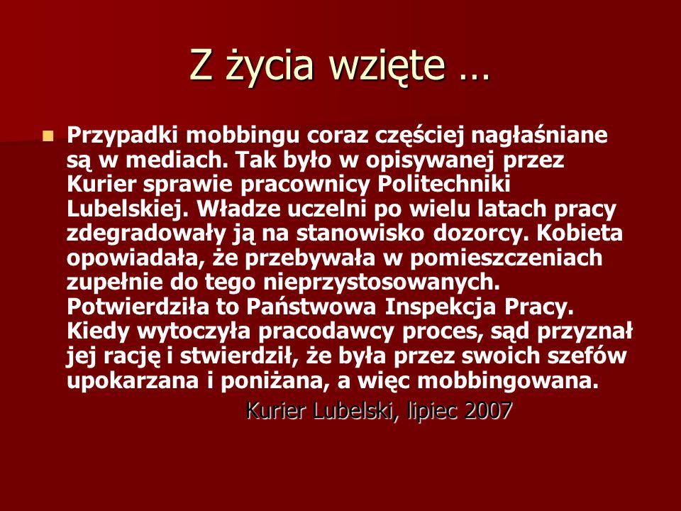 Z życia wzięte … Władysława B.