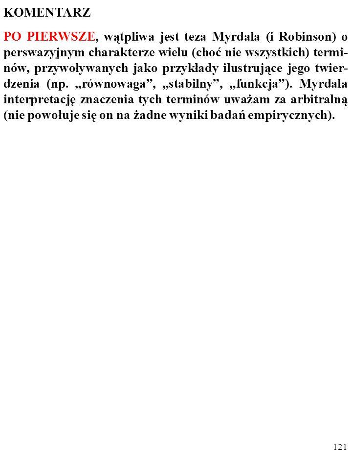 120 DYGRESJA Podobne opinie głosi DEIRDRE MCCLOSKEY.