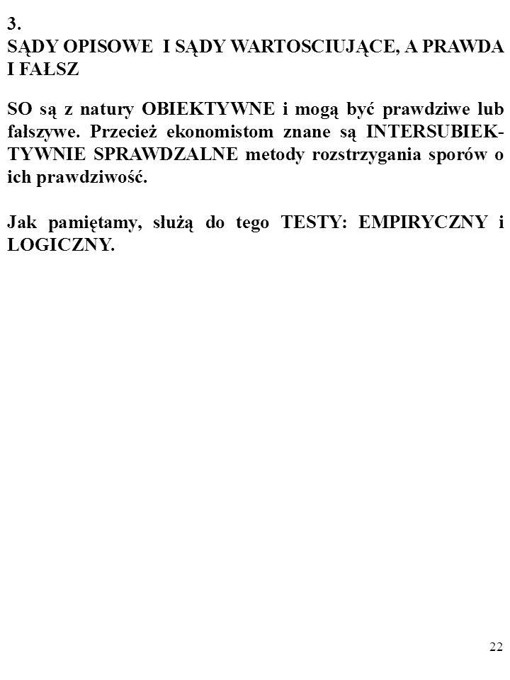 21 Dodam, że w przypadku nieinstrumentalnych SW mamy do czynienia z opisywanym jeszcze przez Miltona Friedmana w słynnym artykule On the Methodology of Positive Economics z 1953 roku a potem np.