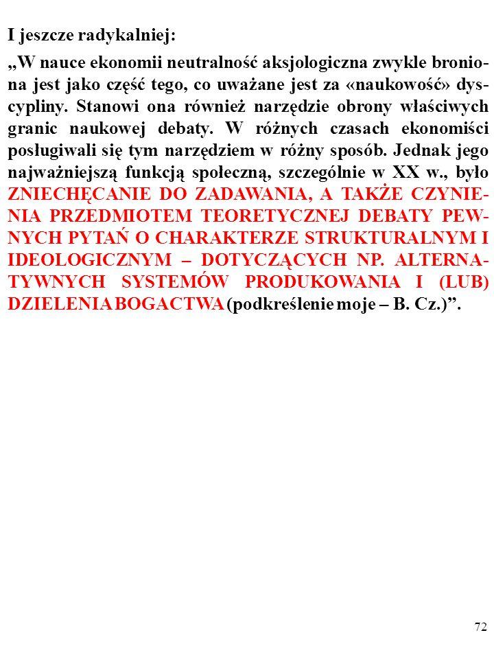 """71 """"[O]brona aksjologicznej neutralności ekonomii w połowie XX w."""