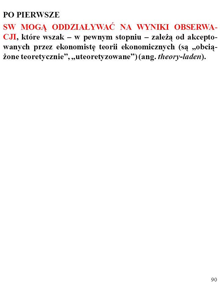 89 2. DECYZJE METODOLOGICZNE SŁUŻĄ NARZUCA- NIU WARTOŚCIOWANIA