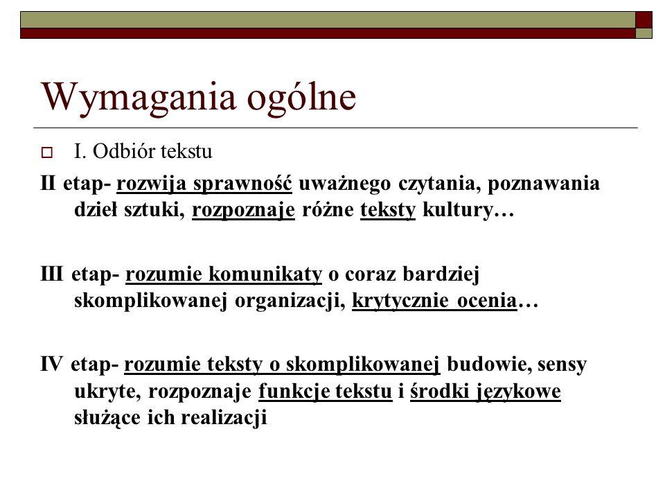 Wymagania ogólne  II.