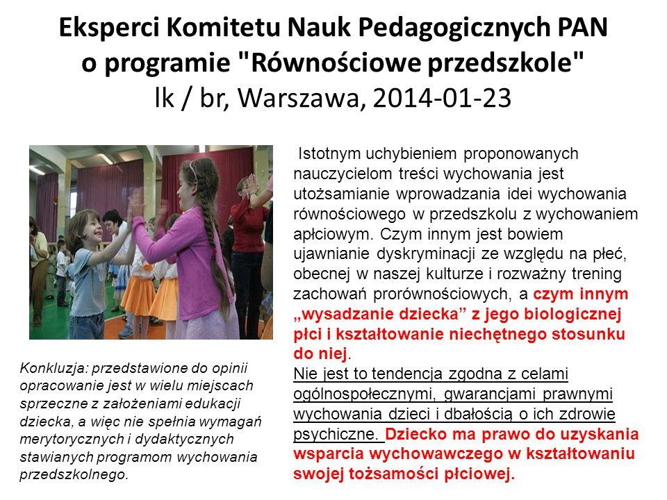 Eksperci Komitetu Nauk Pedagogicznych PAN o programie