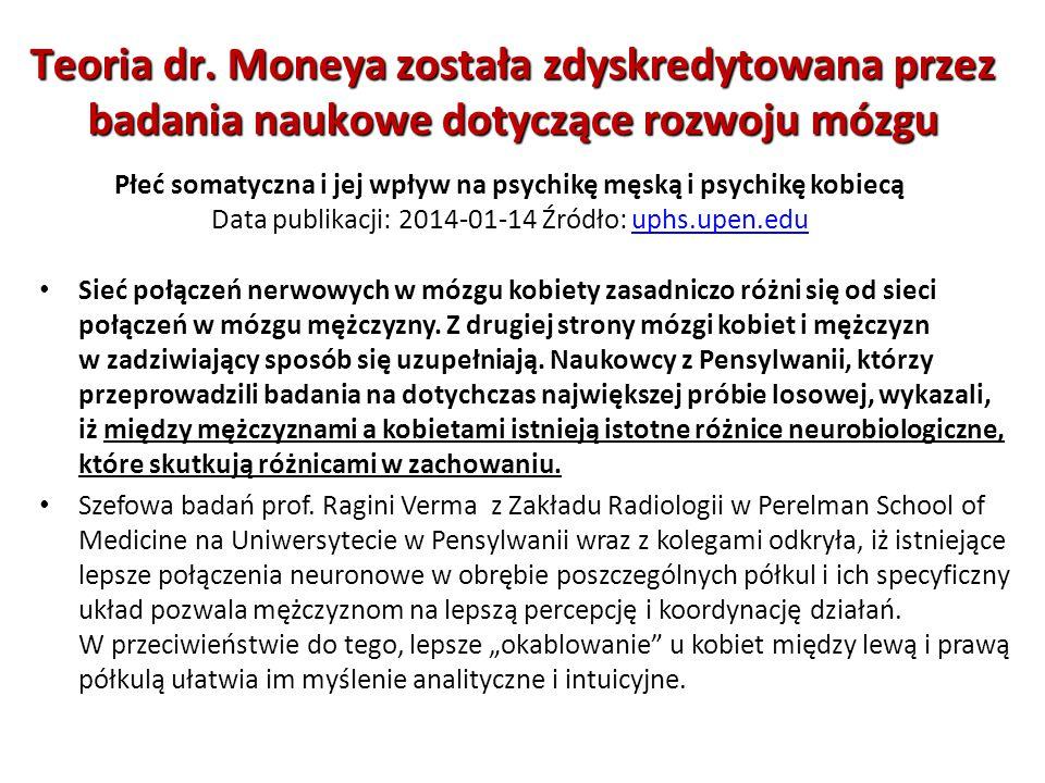 Płeć somatyczna i jej wpływ na psychikę męską i psychikę kobiecą Data publikacji: 2014-01-14 Źródło: uphs.upen.eduuphs.upen.edu Sieć połączeń nerwowyc