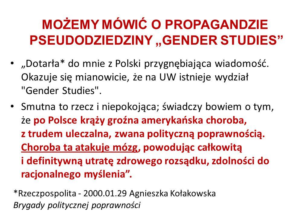"""""""Dotarła* do mnie z Polski przygnębiająca wiadomość. Okazuje się mianowicie, że na UW istnieje wydział"""