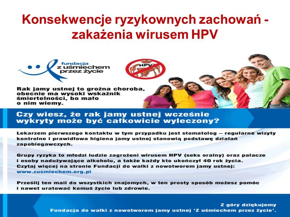 Konsekwencje ryzykownych zachowań - zakażenia wirusem HPV