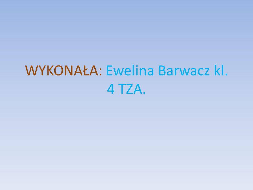 WYKONAŁA: Ewelina Barwacz kl. 4 TZA.