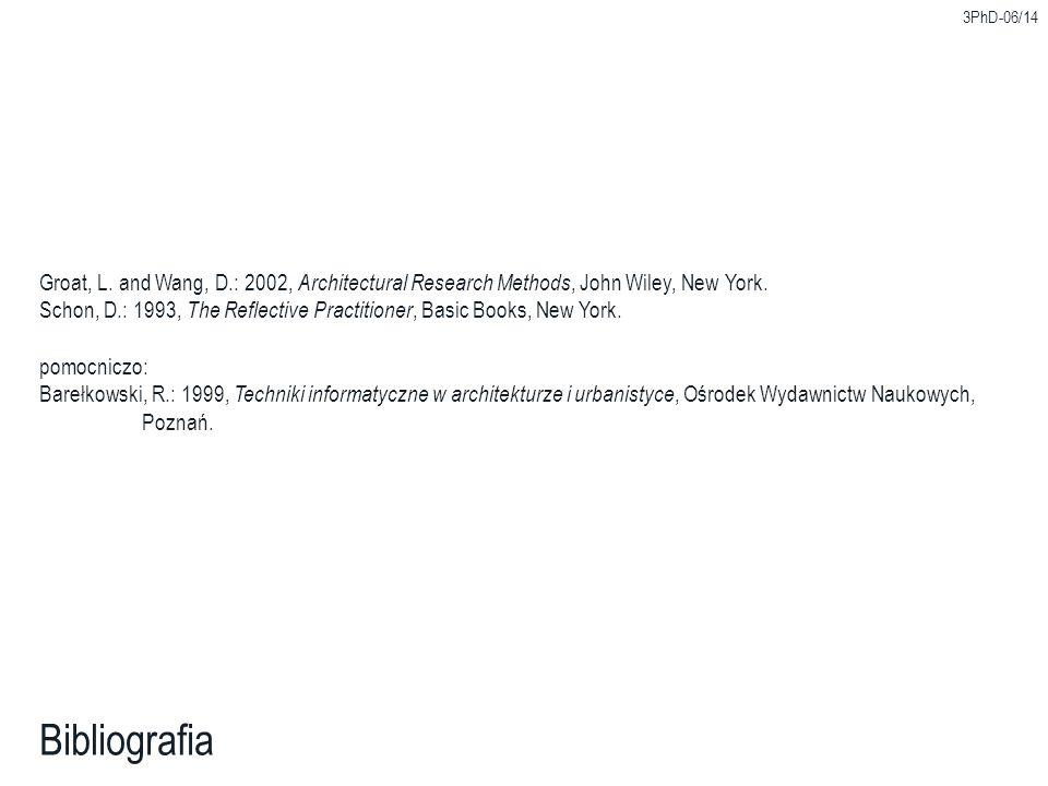 3PhD-06/14 Bibliografia Groat, L.
