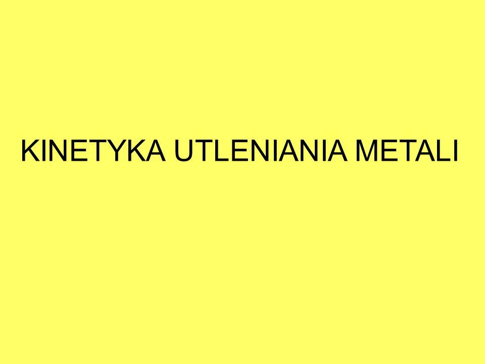 KINETYKA UTLENIANIA METALI