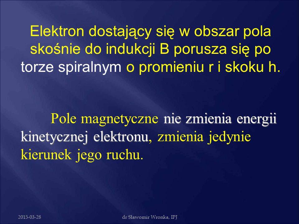 2015-03-28dr Sławomir Wronka, IPJ  Połączenie w szeregu 6 milionów baterii R6, jedna za drugą, dała by różnicę potencjałów 9 milionów wolt – elektron