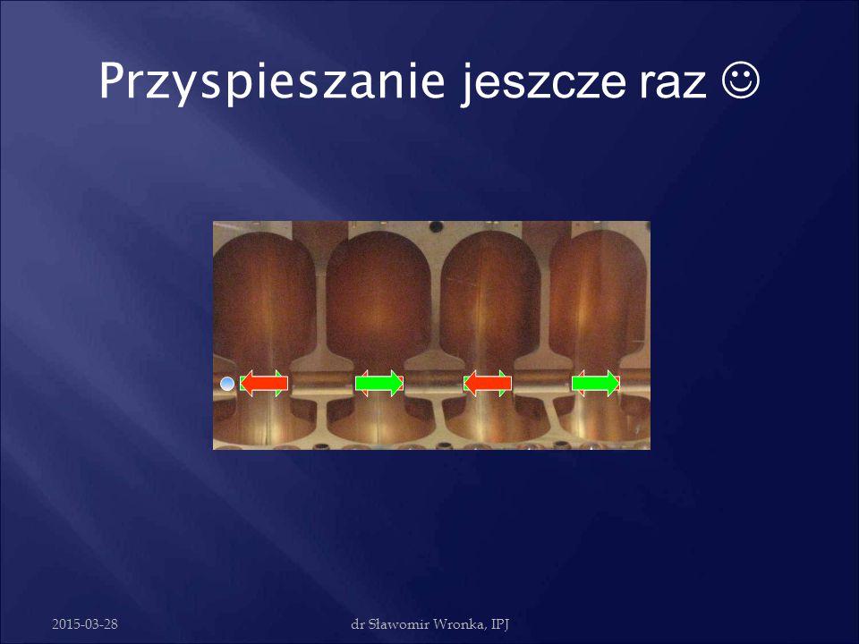 2015-03-28dr Sławomir Wronka, IPJ Przyspieszanie elektronów Standing waveMoving wave