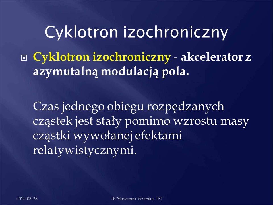 2015-03-28dr Sławomir Wronka, IPJ Cyklotron