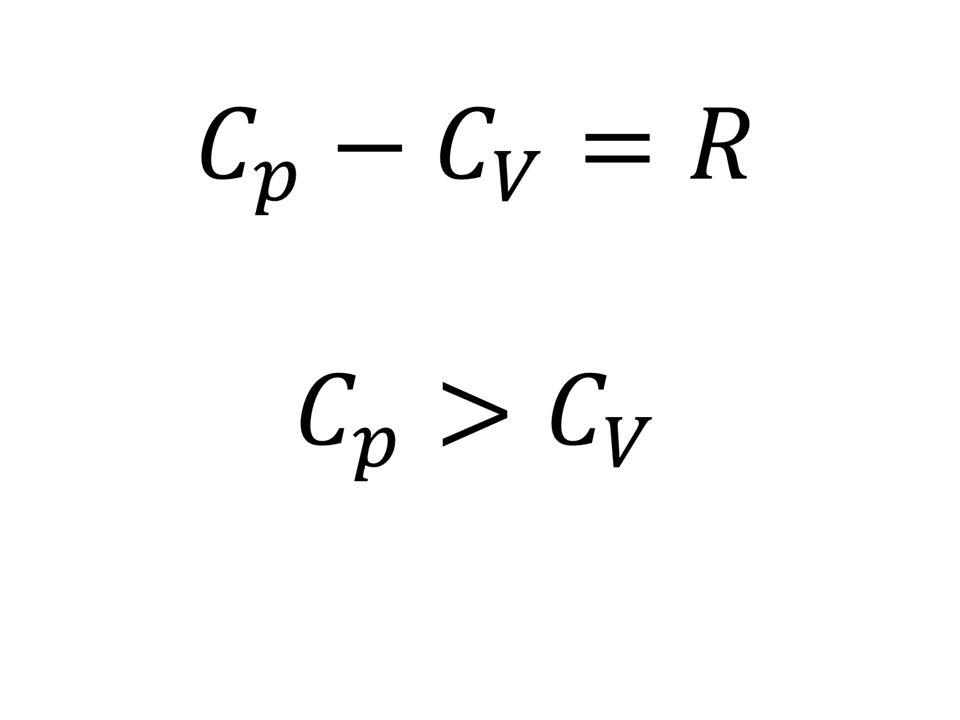 Ilość ciepła ΔQ pobrana przez ciało w procesie ogrzewania ΔQ=mcΔT c – ciepło właściwe m = n M M – masa molowa ΔQ=nMcΔT Mc = C – ciepło molowe ΔQ=nCΔT