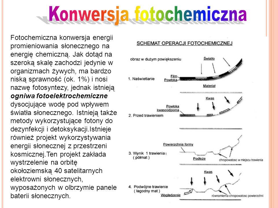 Fotochemiczna konwersja energii promieniowania słonecznego na energię chemiczną. Jak dotąd na szeroką skalę zachodzi jedynie w organizmach żywych, ma