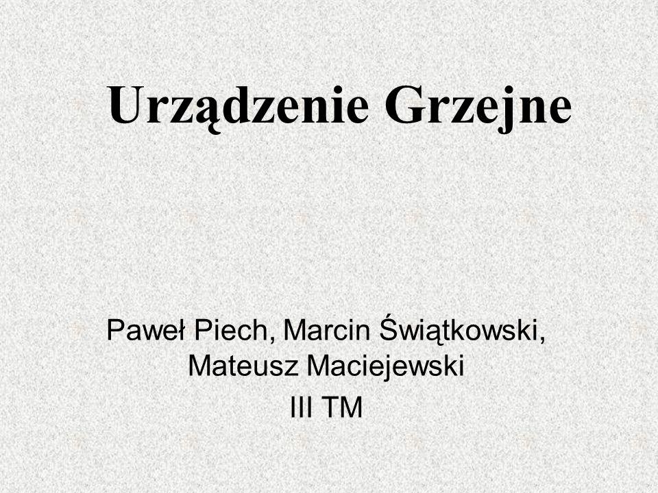 Urządzenie Grzejne Paweł Piech, Marcin Świątkowski, Mateusz Maciejewski III TM