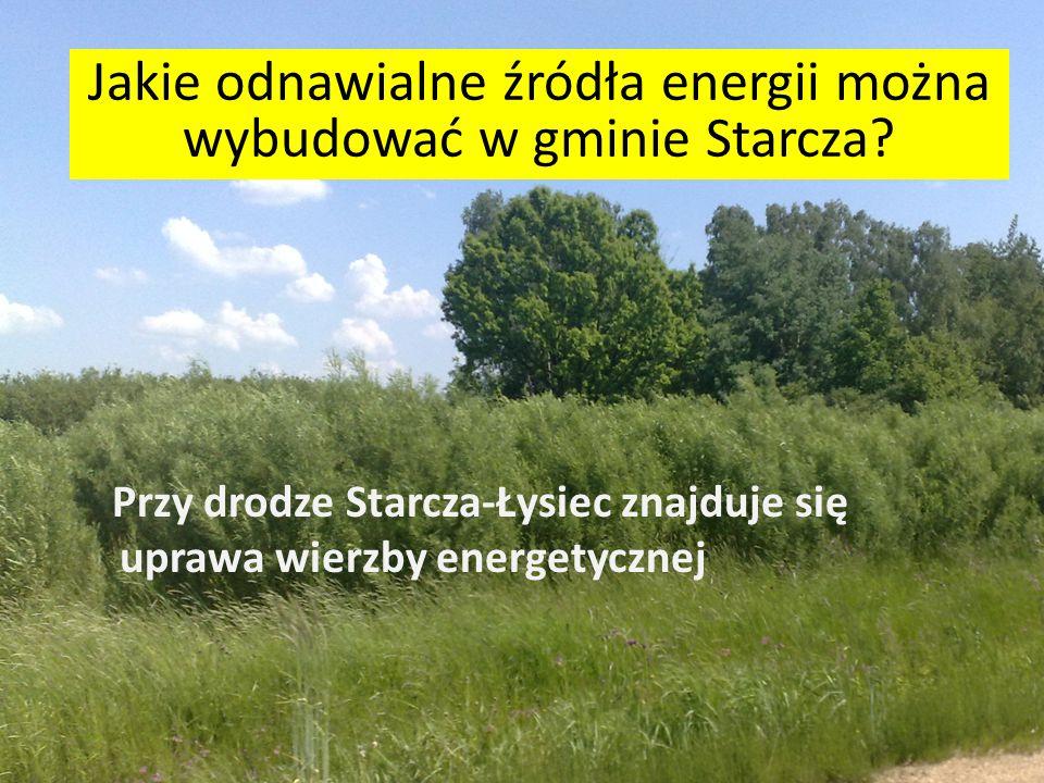 Jakie odnawialne źródła energii można wybudować w gminie Starcza? Na rzece można z powodzeniem ustawić niewielkie koło wodne, ilość energii nie będzie