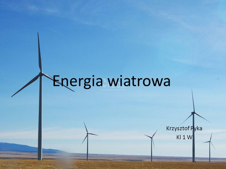 Energia kinetyczna przemieszczających się mas powietrza, zaliczana do odnawialnych źródeł energii.